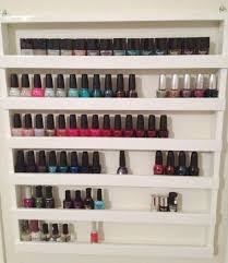 hanging pictures without nails how to build your own nail polish rack hag shelves hanging