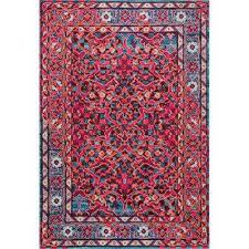 benito damask cherry pink 8 ft x 11 ft area rug