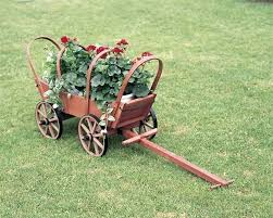 decorative garden wagon planter traditional covered wooden wagon decorative garden cart planters
