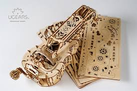 ugears hurdy gurdy 3d puzzle wooden al model brain teaser diy craft set gift for teens and s com