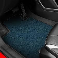auto custom carpets nylon medium blue floor mats