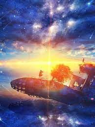 Sunrise Anime Scenery Horizon Stars 4K ...
