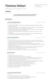Desktop Support Resume Samples VisualCV Resume Samples Database Extraordinary Desktop Support Resume