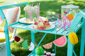See the full party post, shop all of the supplies I used, and get a few of  my decorating tips for hosting the perfect Tutti Frutti summer party on ...