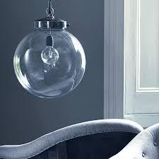 image of large glass globe pendant light