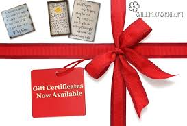 Gift Certificate Sign Gift Certificate For Wildflowerloft On Etsy Wildflowerloft