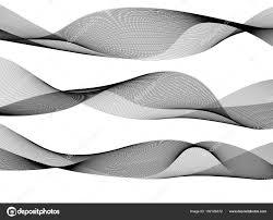デザインのホワイト バック グラウンド人里の要素波白黒ライン