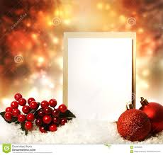 Christmas Card Photo Christmas Card With Red Ornaments Royalty Free Stock Photo Image