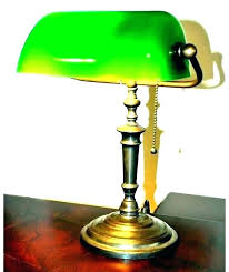 desk angelica classic green desk lamp traditional bankers banker shade