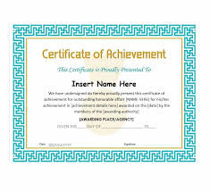 Certificate Of Excellence Template Word Gorgeous 48 Great Certificate Of Achievement Templates FREE Template Archive