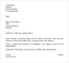 Business Letter Format Template Sample - Social Funda