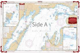 Lake Michigan Nautical Chart Northern Lake Michigan Navigation Chart 72