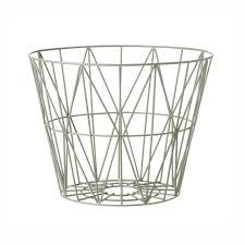 wire furniture. Designer Ferm Living Dusty Green Wire Basket- Scandinavian Furniture