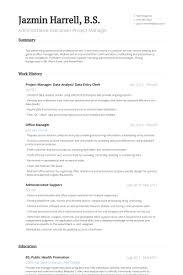 Data Entry Resume Sample Download