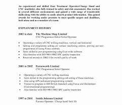 Machine Operator Job Description For Resume Fair Machinist Resume Examples On Cnc Machine Operator Sample 75
