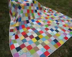 Patchwork Quilt Queen Size93X93Warm Earthtone colors & Farmhouse Quilt--Patchwork Quilt--handmade--Queen Size--Classic Adamdwight.com