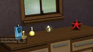 the purfume bottles from the base game are lovely i wish the blue bottle was recolorable but other than that they re perfect for bathrooms or on top of