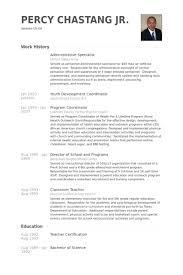 Administrative Specialist Resume Samples Visualcv Resume Samples