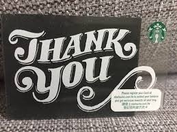 starbucks coffee 2018 thank you gift card china hong kong edition