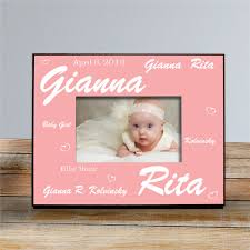 new baby girl printed frame baby picture frames
