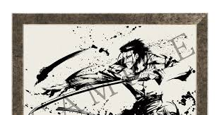 pre orders open for intense sumi e paintings featuring powerful rurouni kenshin characters