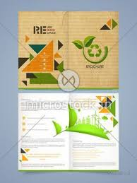 Flyer Template For Pages Vintage Two Pages Ecological Brochure Template Or Flyer Design With Recycling Process And Place Holder For Your Content
