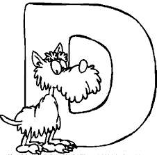 Small Picture Alphabet D coloring page