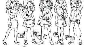 Lego Friend Coloring Pages Friends Coloring Pages Printable Coloring