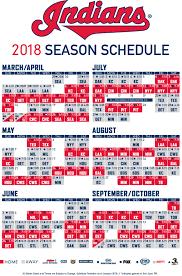 Cleveland Indians Unveil 2018 Schedule ...