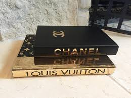 Designer Books Decor BLACK GOLD DESIGNER Books 100 Books Chanel Louis Vuitton 31