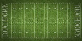 grass american football field. An Overhead View Of American Football Field With White Markings Painted On Grass, Stock Photo Grass