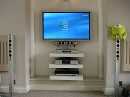 Floating Shelves For Dvd Player Etc Floating shelves for the home theater system For the Home 1
