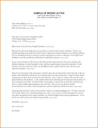 Sample Letter Of Intent Government Sample Letter Resume