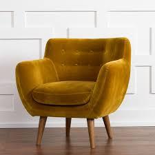 Rhodes Mid Century Modern Tufted Arm Chair Mustard Yellow RST Brands