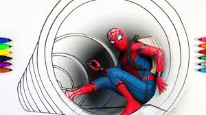 Small Picture Spider man Homecoming In the Pipe Coloring Pages For Children