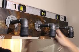 industrial bathroom lighting. Wall Mount Bathroom Light Fixtures Inspirational Diy Lighting Industrial A