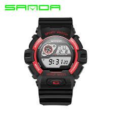 kids waterproof digital watch promotion shop for promotional kids 2017 sanda sport watches for men electronic led dial 30m waterproof wristwatches relogio masculino digital bracelet