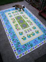 picture of paint a concrete rug