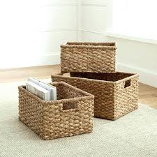 coffee table with storage baskets style