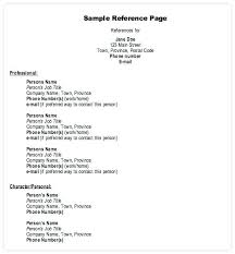 How To List References On Resume Write Sample Of Reference In