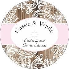 Wedding Cd Labels Wood Lace Wedding Cd Labels Labelsrus