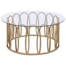 chocolate chrome round coffee table with metal base