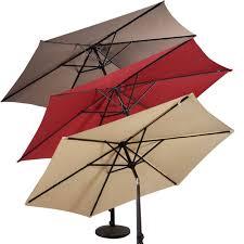 9ft patio umbrella patio market steel tilt w crank outdoor yard garden burdy