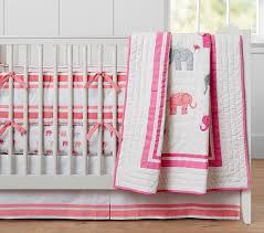 pink elephant crib sheets
