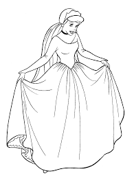 The Free Cinderella Coloring Pages By
