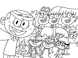 Small Picture The loud house coloring pages to download and print for free