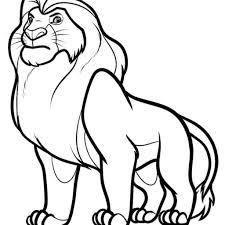 Le Roi Lion 225 Films D Animation Coloriages Imprimer
