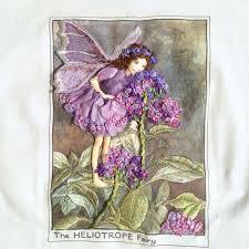 Embroidery Fairy Designs Heliotrope Flower Fairy Hand Embroidery Silk Ribbon Thread