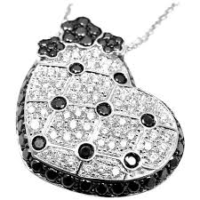 pasquale bruni sapphire lulu diamond white gold pendant necklace for
