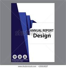 Simple Annual Report Cover Page Design Samples Blue Annual Report